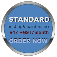 standard hosting and maintenance button